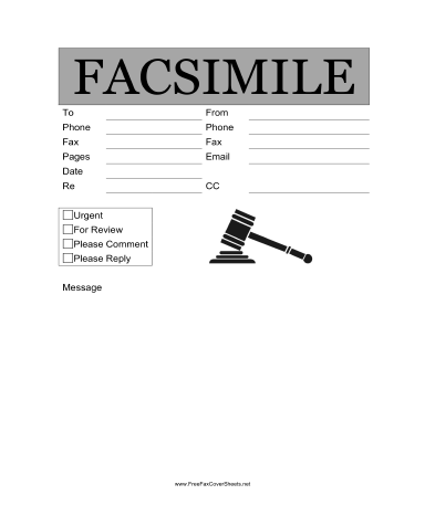printable cover sheet for fax
