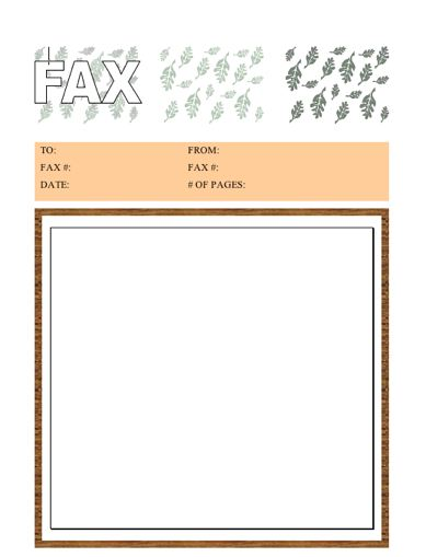 Autumn Fax Cover Sheet