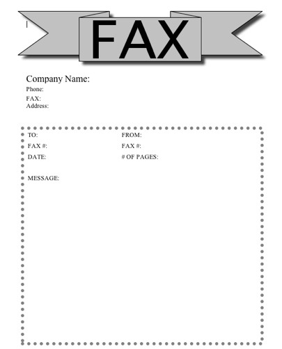 fax sheet cover letter template
