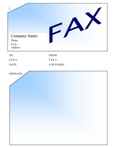 blue fax cover sheet this printable fax cover sheet stands out with ...